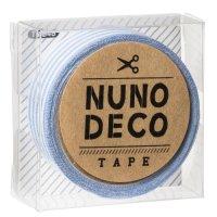 ヌノデコテープ みずいろしましま