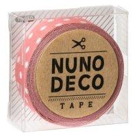 ヌノデコテープ うすべに水玉