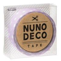 ヌノデコテープ ふじいろ水玉