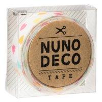 ヌノデコテープ しろいカラフルハート
