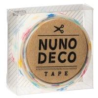ヌノデコテープ しろいカラフルスター