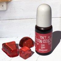 デコレジーナ 樹脂用着色剤 透明レジンカラーTINT 10g レッド