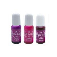 デコレジーナ 樹脂用着色剤 透明レジンカラーTINT 10g ピンク系3色セット