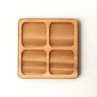 木製ミニチュアパーツ WP-006 正方形皿B M 1個入