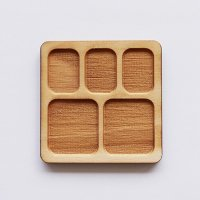 木製ミニチュアパーツ WP-009 正方形皿C M 1個入