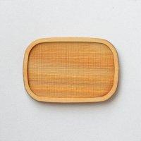 木製ミニチュアパーツ WP-012 四角皿C M 1個入