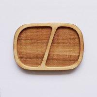 木製ミニチュアパーツ WP-016 四角皿D M 1個入