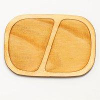 木製ミニチュアパーツ WP-017 四角皿D L 1個入
