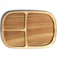 木製ミニチュアパーツ WP-021 四角皿E L 1個入