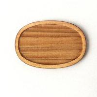 木製ミニチュアパーツ WP-032 楕円皿C M 1個入