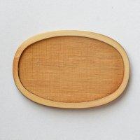 木製ミニチュアパーツ WP-033 楕円皿C L 1個入