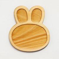木製ミニチュアパーツ WP-042 アニマルプレートうさぎL 1個入