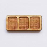 木製ミニチュアパーツ WP-056 3連トレー長方形A L 1個入