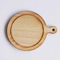 木製ミニチュアパーツ WP-069 カッティングボードF M 1個入