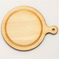 木製ミニチュアパーツ WP-070 カッティングボードF L 1個入