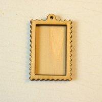 木製レジンフレーム WP-114 切手 土台付きM 1個入