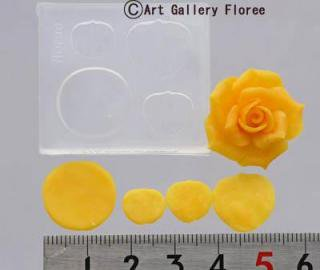 ソフトモールド C-417 バラ花弁型L