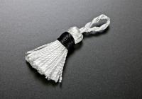 ミニタッセル 001 ホワイト×ブラック
