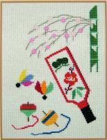 刺しゅうキット K115 お正月飾りー羽子板