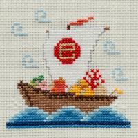 刺しゅうキット K236 干支 ー 巳(へび)宝船