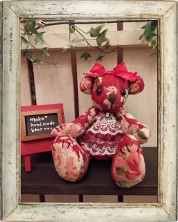 【B-type】Red&Rose(テディベア)mokobear