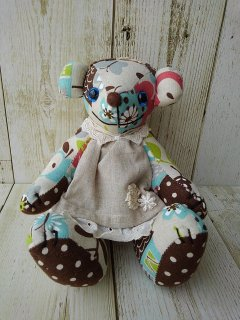 【B-type】Nordic Pattern Teddy Bear(テディベア)mokobear