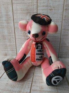 【B-type/PUNK】ANARCHY BEAR/PINK(25cmテディベア)