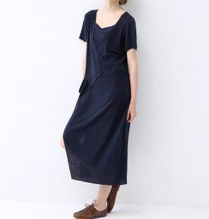 ★SALE★カットソー素材シンプルな半袖ロングワンピース♪