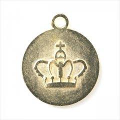 ミール皿 1枚 王冠 g25 ゴールド 金 カンあり カン付き 丸皿 クラウン レジン アクセサリー パーツ 枠 型枠 モールド チャーム セッティング 台座 土台 イヤリング 素材 金具 手芸