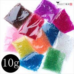 【単色販売】オーロラの種 10g AB/ガラスの粒 しゃぼん玉 硝子 たね 泡 カレット/ハンドメイド レジン デコパーツ 素材 材料