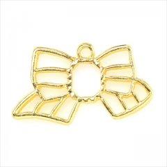 レジン空枠 ゴールド 1枚 tg22 金/リボン/フレーム チャーム ハンドメイド パーツ