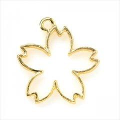 レジン空枠 ゴールド 1枚 tg29 金/桜 さくら フラワー/フレーム チャーム ハンドメイド パーツ