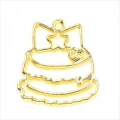 レジン空枠 ゴールド 1枚 tg33 金/デコレーションケーキ/フレーム チャーム ハンドメイド パーツ