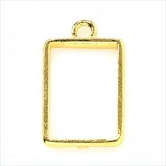 レジン空枠 ゴールド 1枚 tg37 金/長方形 レクタングル/フレーム チャーム ハンドメイド パーツ