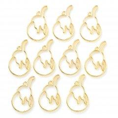 レジン空枠 ゴールド 10枚セット tg02 金/猫 ネコ 後ろ姿/フレーム チャーム ハンドメイド パーツ