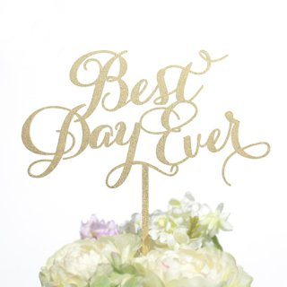 ケーキトッパー<br>【Best Day Ever/Emily】
