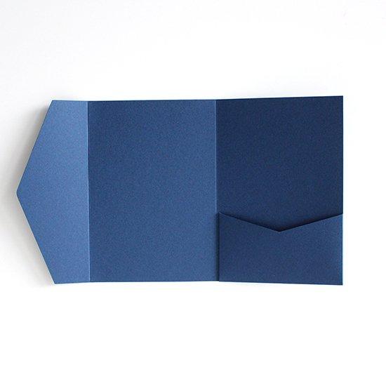 ポケットフォルダー ブルー