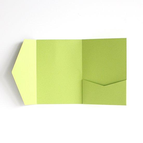 ポケットフォルダー 緑
