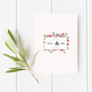 プロフィールブック<br>【Pink flower/Muguet】