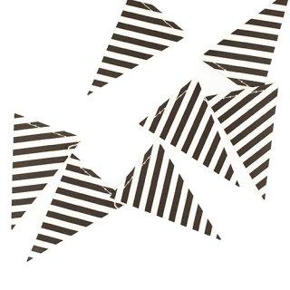 ガーランド<br>【Black & White Stripes】