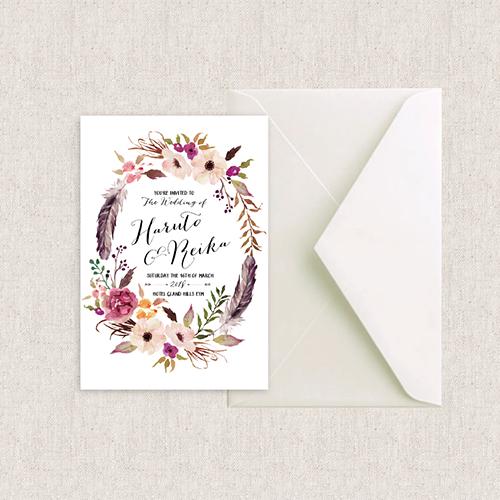 結婚式 カード 招待状 BOHO