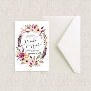 カード型招待状セット<br>【BOHO】