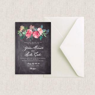 カード型招待状セット <br>【Muguet × MScalligraphy】