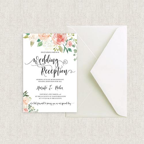 結婚式 招待状 カード型 Heritage rose
