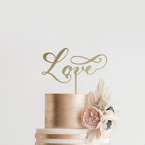 ケーキトッパー<br>【Love2/MS calligraphy】