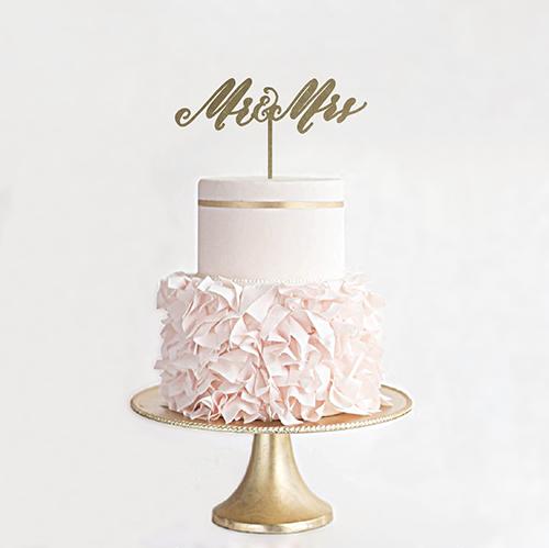 ケーキトッパーMR&MRS
