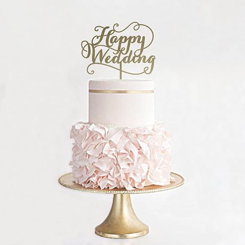 ケーキトッパー【Happy Wedding/EYM】