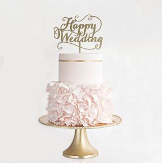ケーキトッパー<br>【Happy Wedding/EYM】