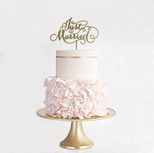 ケーキトッパーJust Married/EYM