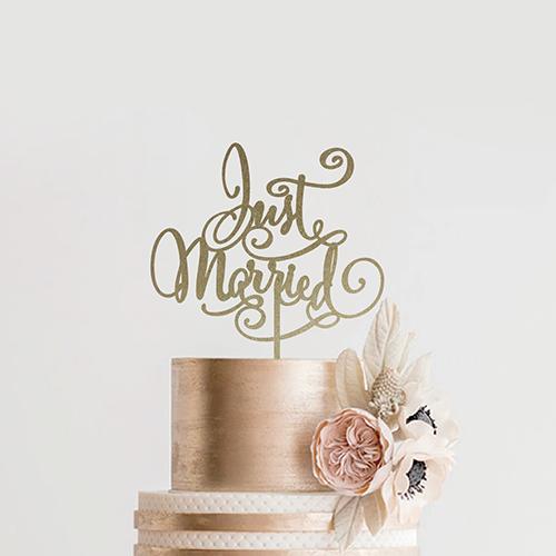 ケーキトッパー<br>【Just Married2/EYM】